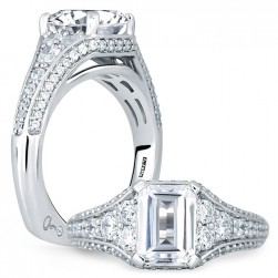 A.JAFFE Platinum Signature Engagement Ring MES693
