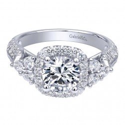 Gabriel 14 Karat Contemporary Engagement Ring ER10179W44JJ