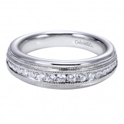 Gabriel 14 Karat Contemporary Wedding Band WB5520W44JJ
