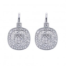Gabriel Fashion 14 Karat Victorian Drop Earrings EG11354W44JJ