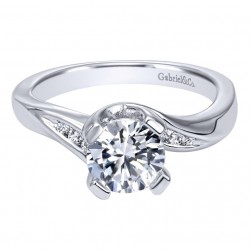 Gabriel 14 Karat Contemporary Engagement Ring ER10307W44JJ