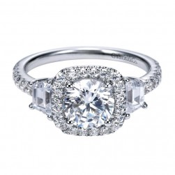 Gabriel 14 Karat Contemporary Engagement Ring ER7485W44JJ