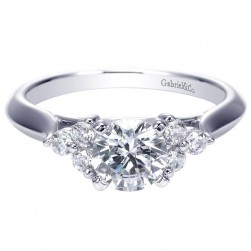 Gabriel 14 Karat Contemporary Engagement Ring ER7995W44JJ