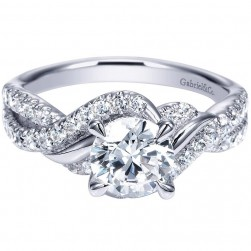Gabriel 14 Karat Contemporary Engagement Ring ER8749W44JJ