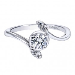Gabriel 14 Karat Contemporary Engagement Ring ER912006R0W44JJ