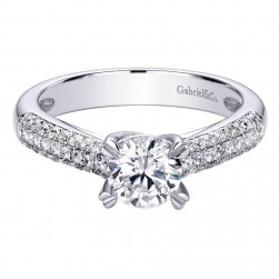 Gabriel 14 Karat Contemporary Engagement Ring ER9446W44JJ