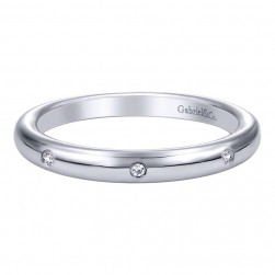 Gabriel 14 Karat Contemporary Wedding Band WB9614W44JJ
