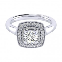 Gabriel 14 Karat Perfect Match Engagement Ring ER009B3AGW44JJ