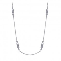 Gabriel Fashion 14 Karat Roaring 20's Diamond By The Yard Necklace NK756-20W45JJ