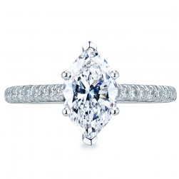 HT2546MQ10x5 Platinum Tacori Petite Crescent Engagement Ring