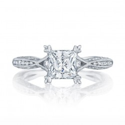 2645PR612 Platinum Tacori Classic Crescent Engagement Ring