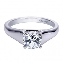 Gabriel 14 Karat Contemporary Engagement Ring ER8138W4JJJ