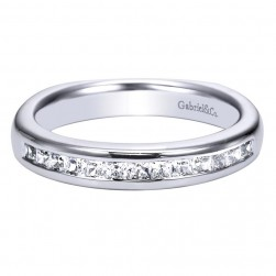 Gabriel 14 Karat Contemporary Wedding Band WB3965W44JJ