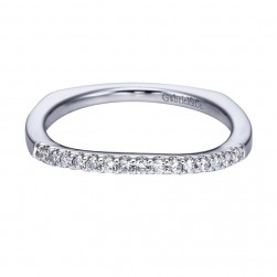 Gabriel 14 Karat Contemporary Wedding Band WB6560W44JJ