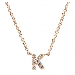 Gabriel Fashion 14 Karat Initial Initial Necklace NK4577K-K45JJ