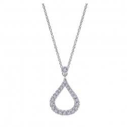 Gabriel Fashion 14 Karat Lusso Diamond Necklace NK4386W45JJ