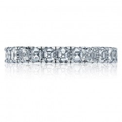 Tacori 32-3 18 Karat Clean Crescent Diamond Wedding Band