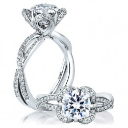 A.JAFFE Platinum Classic Engagement Ring ME1623