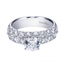 Gabriel 14 Karat Contemporary Engagement Ring ER4011W44JJ