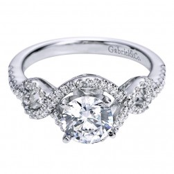 Gabriel 14 Karat Contemporary Engagement Ring ER5705W44JJ