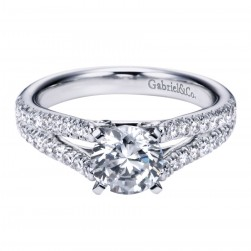 Gabriel 14 Karat Contemporary Engagement Ring ER6666W44JJ