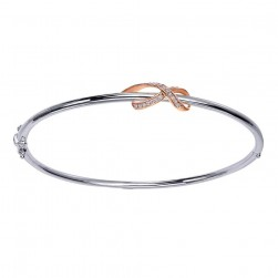 Gabriel Fashion Silver / 18 Karat Two-Tone Care Collection Bangle Bracelet BG169MK5JJ