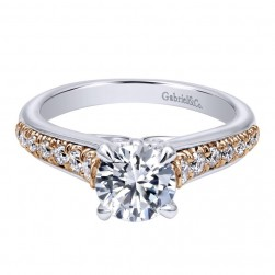Gabriel 14 Karat Contemporary Engagement Ring ER10765T44JJ