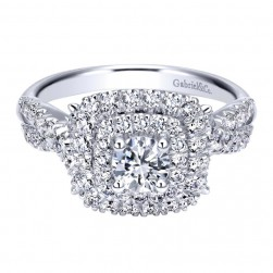 Gabriel 14 Karat Contemporary Engagement Ring ER911712R0W44JJ