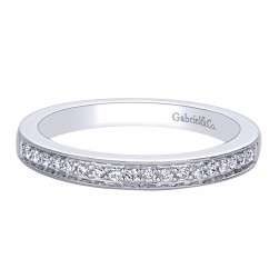 Gabriel 14 Karat Contemporary Wedding Band WB9545W44JJ