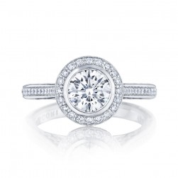 306-25RD65 Platinum Tacori Starlit Engagement Ring