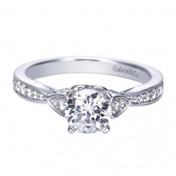 Gabriel 14 Karat Contemporary Engagement Ring ER8005W44JJ