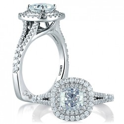 A.JAFFE Platinum Signature Engagement Ring MES574
