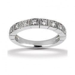 Diamond Antique Band 18 Karat Taryn Collection TQD B-608