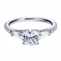 Gabriel 14 Karat Contemporary Engagement Ring ER7514W44JJ