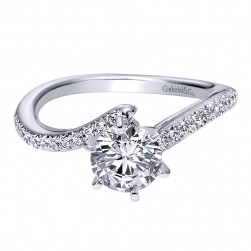 Gabriel 14 Karat Contemporary Engagement Ring ER94224W44JJ