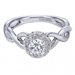 Gabriel 14 Karat Contemporary Engagement Ring ER96084W44JJ