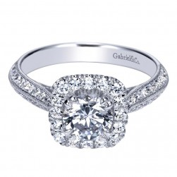 Gabriel 14 Karat Contemporary Engagement Ring ER98665W44JJ