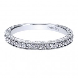 Gabriel 14 Karat Contemporary Wedding Band WB11435W44JJ
