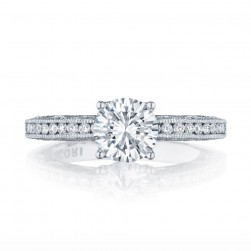 HT2553RD7 Platinum Tacori Classic Crescent Engagement Ring