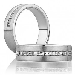 A Jaffe Classic Platinum Wedding Ring BB0181 / 16