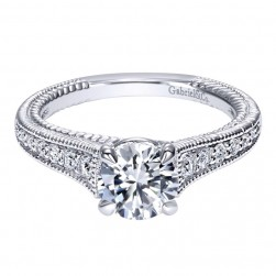 Gabriel 14 Karat Contemporary Engagement Ring ER10113W44JJ