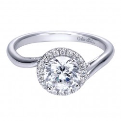 Gabriel 14 Karat Contemporary Engagement Ring ER7822W44JJ