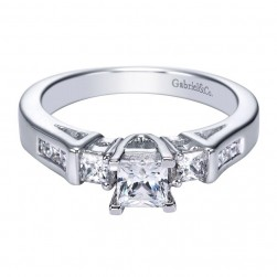 Gabriel 14 Karat Contemporary Engagement Ring ER93908W44JJ