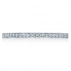 41-15 Platinum Tacori Sculpted Crescent Diamond Wedding Ring