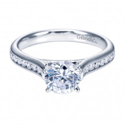 Gabriel 14 Karat Contemporary Engagement Ring ER7443W44JJ