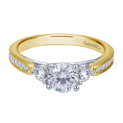 Gabriel 14 Karat Contemporary Engagement Ring ER7449M44JJ