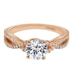 Gabriel 14 Karat Contemporary Engagement Ring ER7546K44JJ