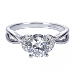 Gabriel 14 Karat Contemporary Engagement Ring ER8130W44JJ