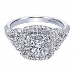 Gabriel 14 Karat Contemporary Engagement Ring ER910098W44JJ