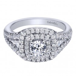 Gabriel 14 Karat Contemporary Engagement Ring ER910147W44JJ